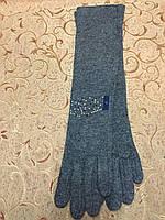 Длинные(46cm) кашемир женские перчатки/женские перчатки