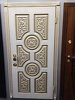 """Двери """"ПОРТАЛА"""" - модель """"ВЕНЕЦИЯ R-23"""" - Патина 3-D - белый винорит"""