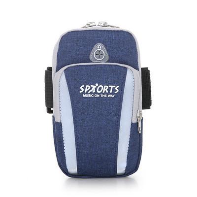Cумка синяя для бега Sports, сумка - чехол на руку