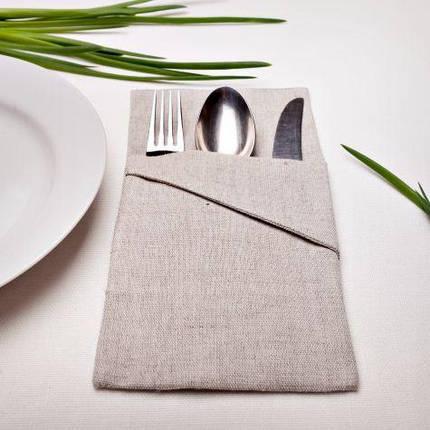 Лляні чохли для столових приборів, фото 2