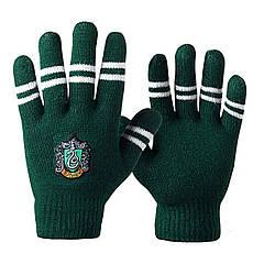 Перчатки Гарри Поттер Слизеринс полосками цвета факультета HP 6.145
