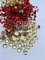 """Стрази ss50 Crystal (10мм) 144шт """"Crystal Premium"""" золота підкладка, фото 1"""