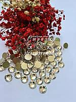 """Стразы ss50 Crystal (10мм) 144шт """"Crystal Premium"""" золотая подложка, фото 1"""
