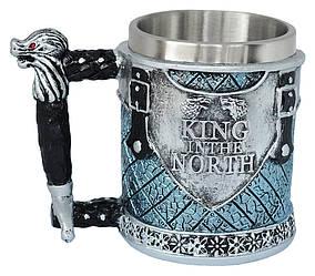 Кружка 3Д Ретро Игра Престолов Король на севере Cup Game of thrones King in the North 3D