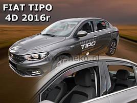 Дефлектори вікон (вітровики) Fiat Tipo 2016 -> SEDAN 4шт (Heko)