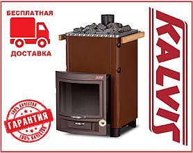 Банная печь-камин Kalvis PR2-1 15 кВт