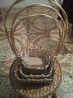Подарочный набор корзин 4 шт квадратный, фото 1