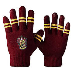 Перчатки Гарри Поттер Гриффиндор с полосками цвета факультета HP 6.145