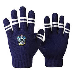Перчатки Гарри Поттер Рейвенкло с полосками цвета факультета HP 6.145