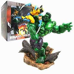 Статуя Халка против Росомахи Супергерои Марвел MarvelSuperhero X-Men Hulk Vs Wolverine36 см нulk F 10.59