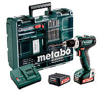 Аккумуляторный шуруповерт Metabo PowerMaxx BS 12 Set + 2 акб + з/у + кейс + комплект оснастки (601036870)