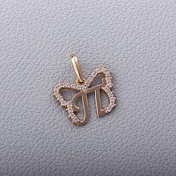 """Золотий кулон-літера """"П"""" П570-П"""