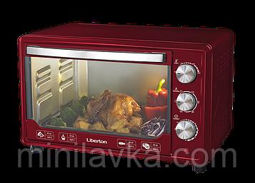 Электродуховка Liberton LEO-481 Dark red - 48 л, конвекция, 2000 Вт