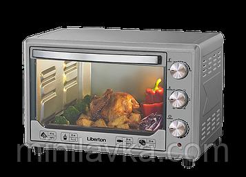 Электродуховка Liberton LEO-481 Silver - 48 л конвекция, 2000 Вт