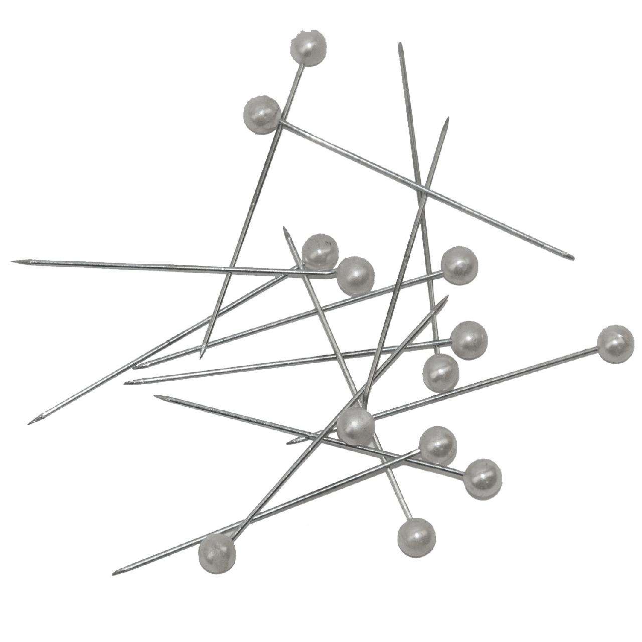 Шпильки белые, JOBMAX, 34 мм, 80 шт.в карт. коробке (BM.5252)