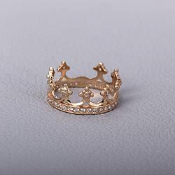 """Женское золотое кольцо """"корона"""" с фианитами. КП1603"""