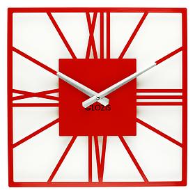 Настінні Годинники Glozis New York 35х35 см Червоний КОД: B-025
