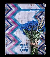 Книга канцелярская ROMANTIC, А4, 96 л., клетка, офсет, твердая ламин. обложка, синяя (BM.2400-302)