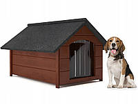 Будка для собаки из дерева, собачья будка Dog Comfort L - 81 х 68 х 62 см