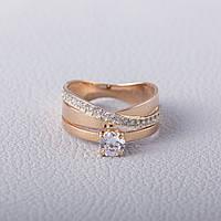 Золотое помолвочное кольцо с фианитом КП1634