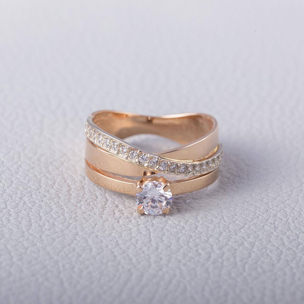 Золотое кольцо с фианитом. КП1634