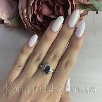 Срібне кільце з натуральним олександритом, фото 2