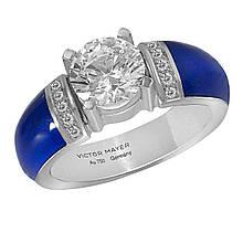Золотое кольцо с бриллиантами, размер 18 (1617413)
