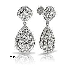 Серьги из белого золота с бриллиантами (1696106)
