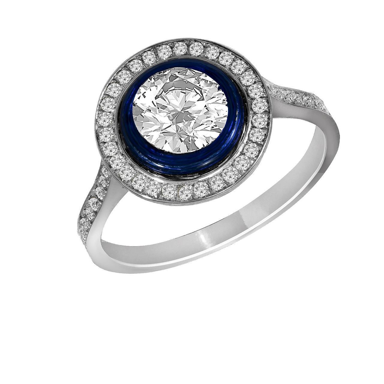 Золотое кольцо с бриллиантами, размер 17.5 (1606654)