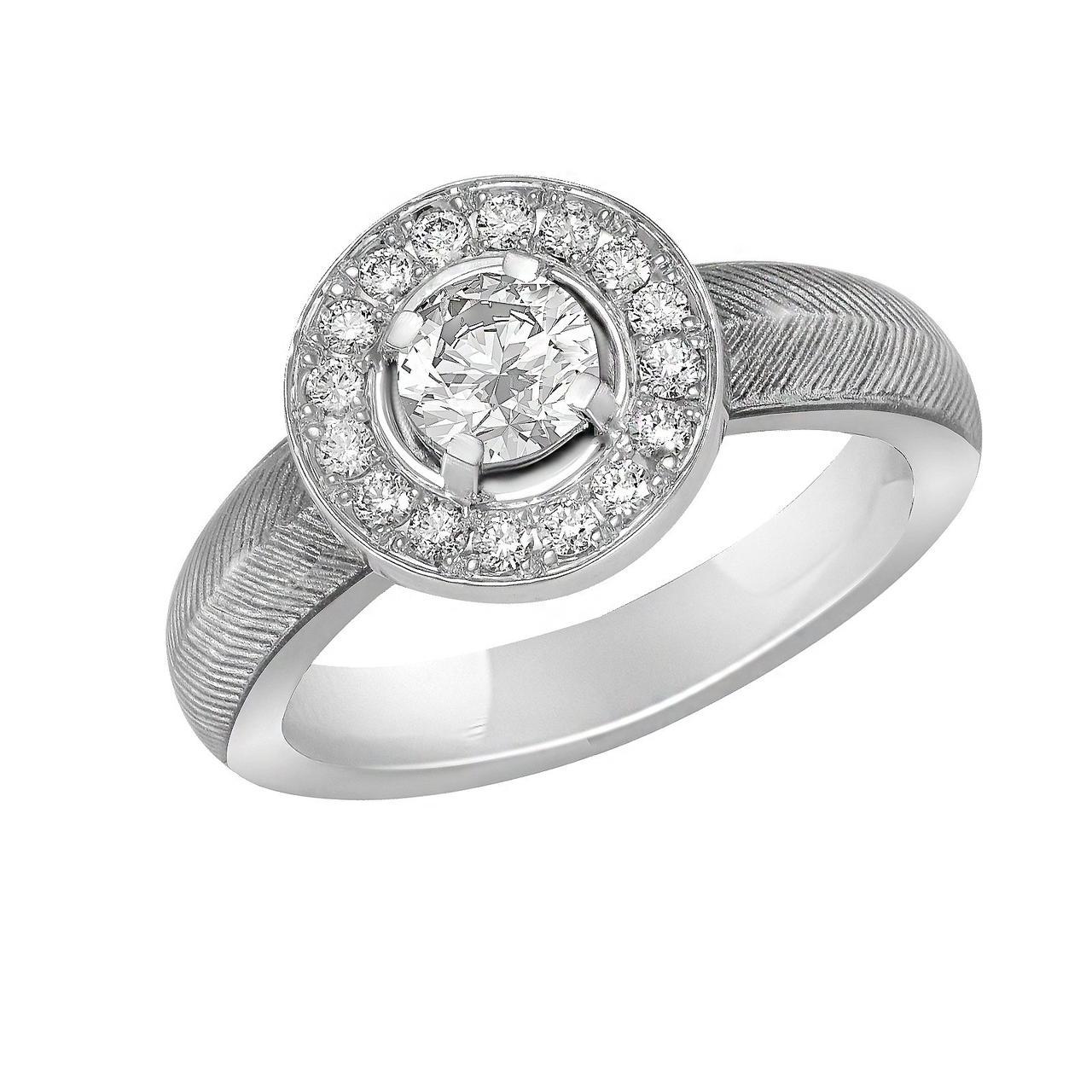 Золотое кольцо с бриллиантами, размер 16.5 (1617414)