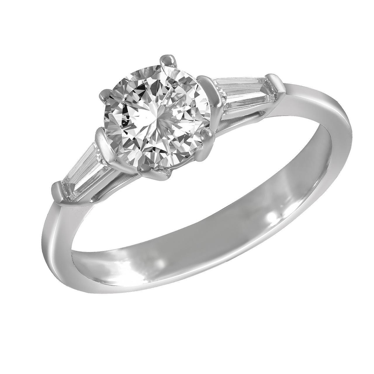 Золотое кольцо с бриллиантами, размер 16 (1678421)