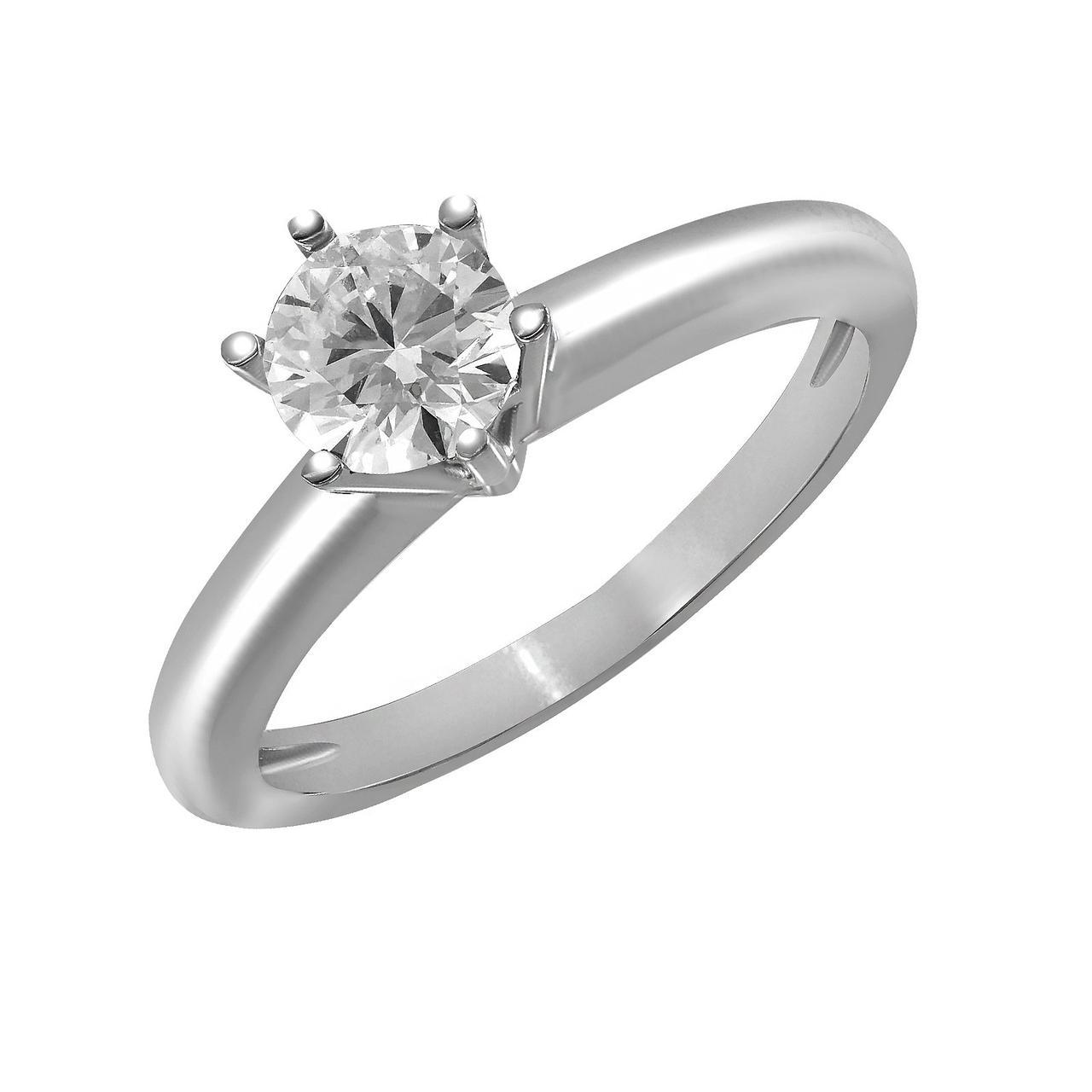 Золотое кольцо с бриллиантом, размер 17.5 (875661)