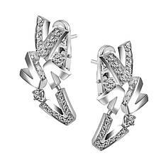 Сережки з білого золота з діамантами (1734884)