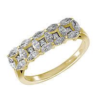 Золотое кольцо с бриллиантами, размер 18.5 (1681641)