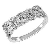 Золотое кольцо с бриллиантами, размер 18 (1681472)