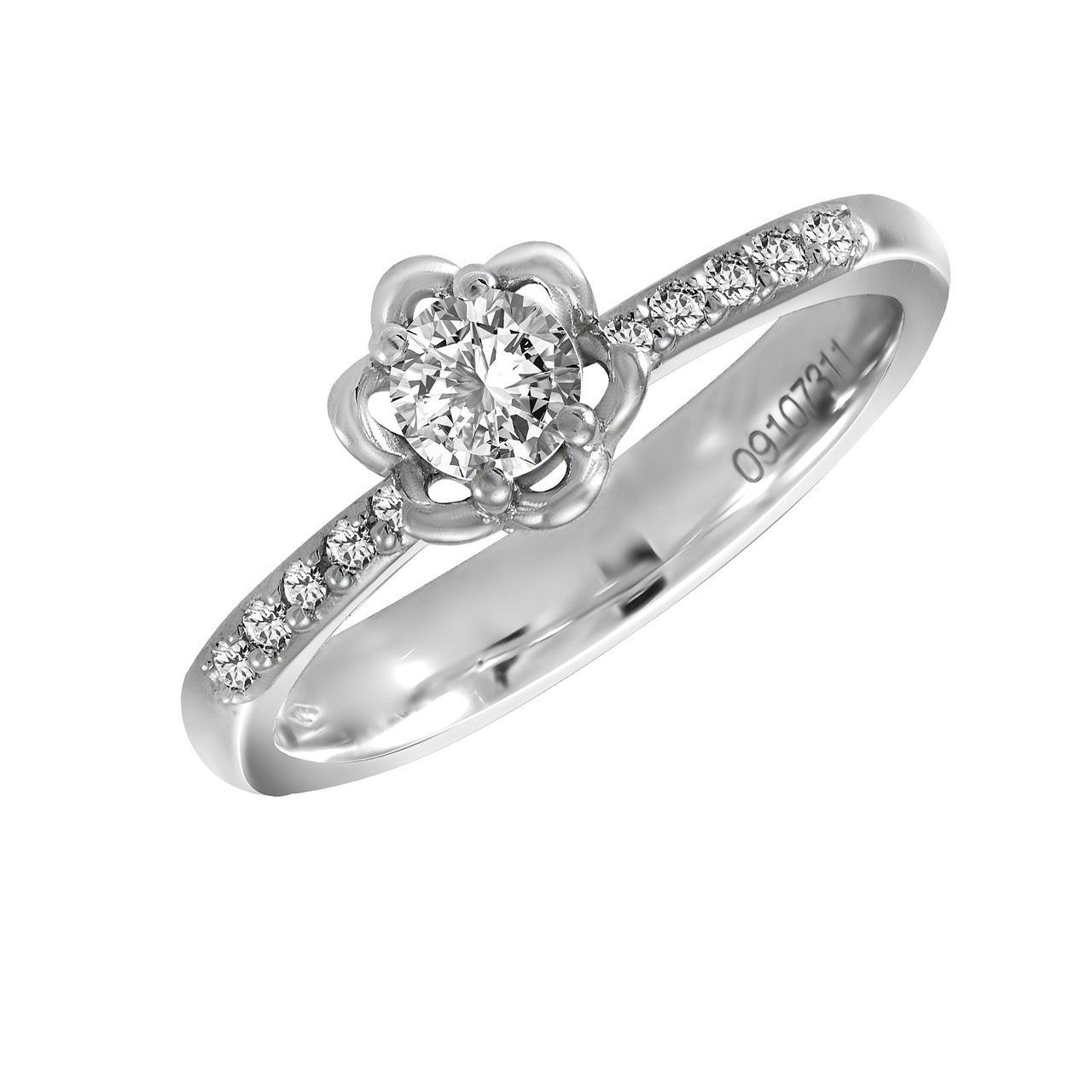 Золотое кольцо с бриллиантами, размер 16.5 (1723983)
