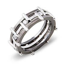 Золотое кольцо с бриллиантами, размер 21.5 (000007)