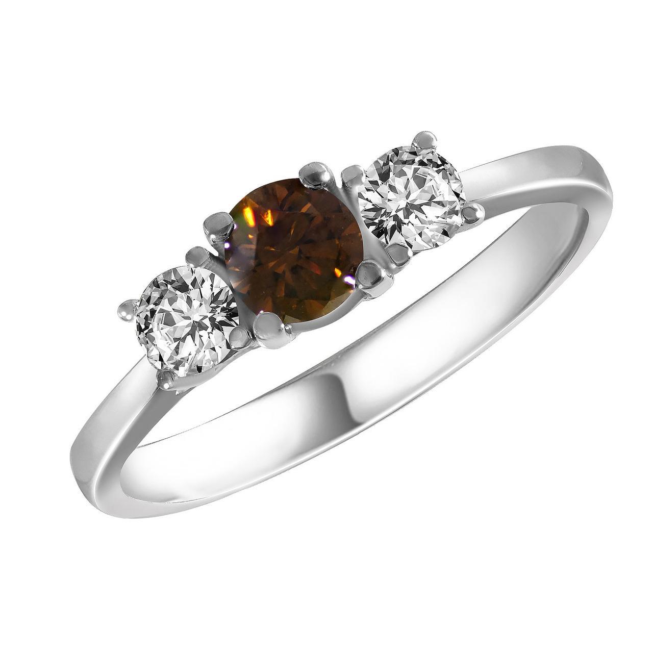 Золотое кольцо с бриллиантами, размер 16.5 (1695549)