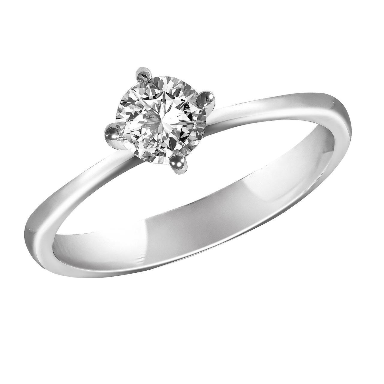 Золотое кольцо с бриллиантом, размер 17 (1694195)