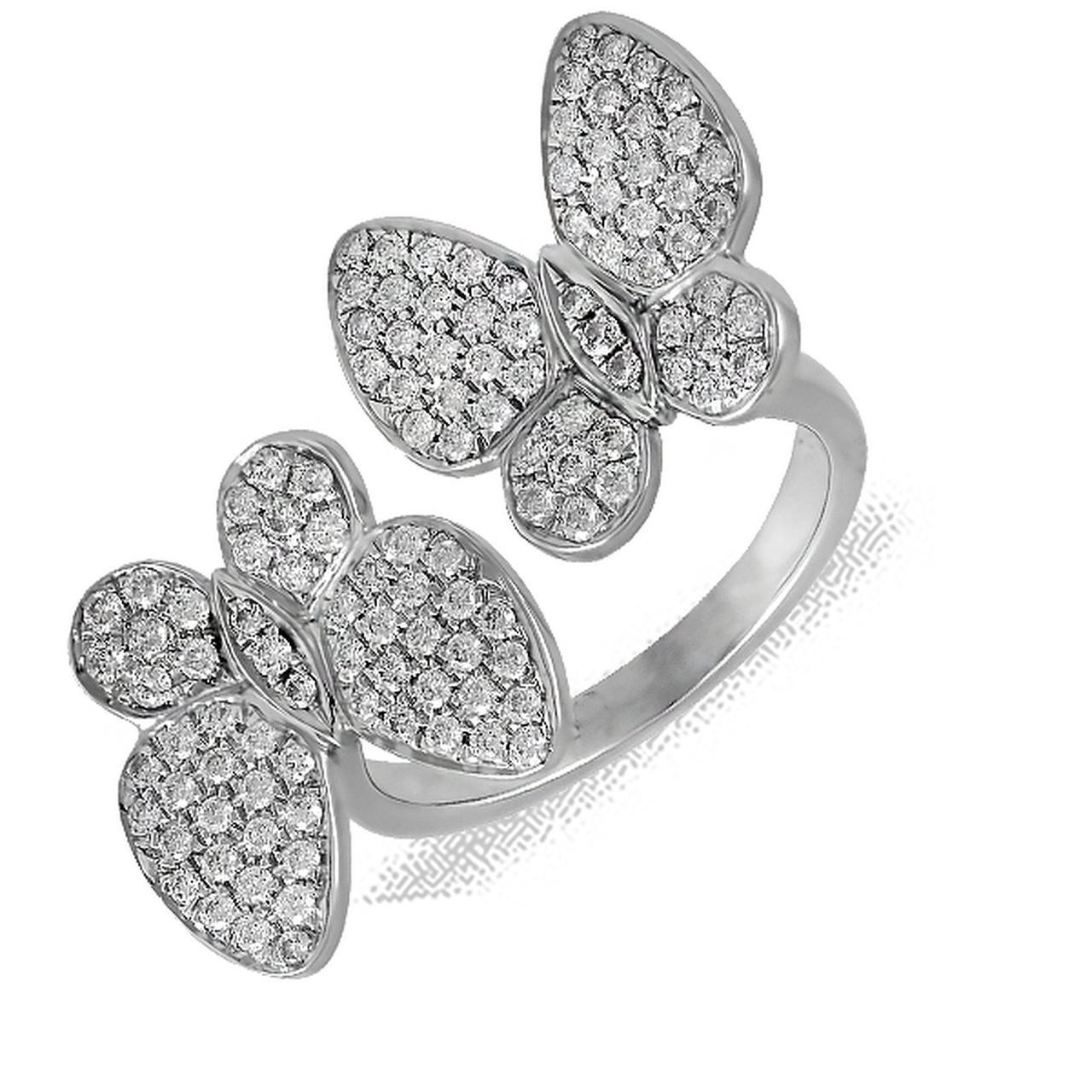 Золотое кольцо с бриллиантами, размер 17.5 (126933)
