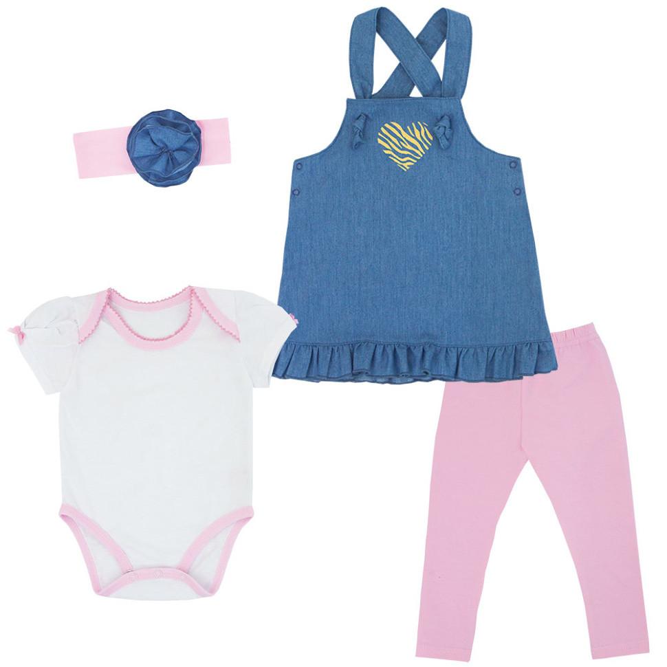 Детский костюм для девочки KS-19-14-4 *Тропики* (размер 68,74,80)