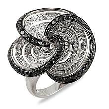 Золоте кільце з діамантами, розмір 16.5 (009039)