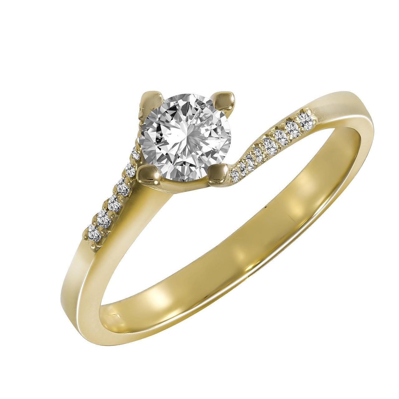 Золотое кольцо с бриллиантами, размер 17 (1695487)