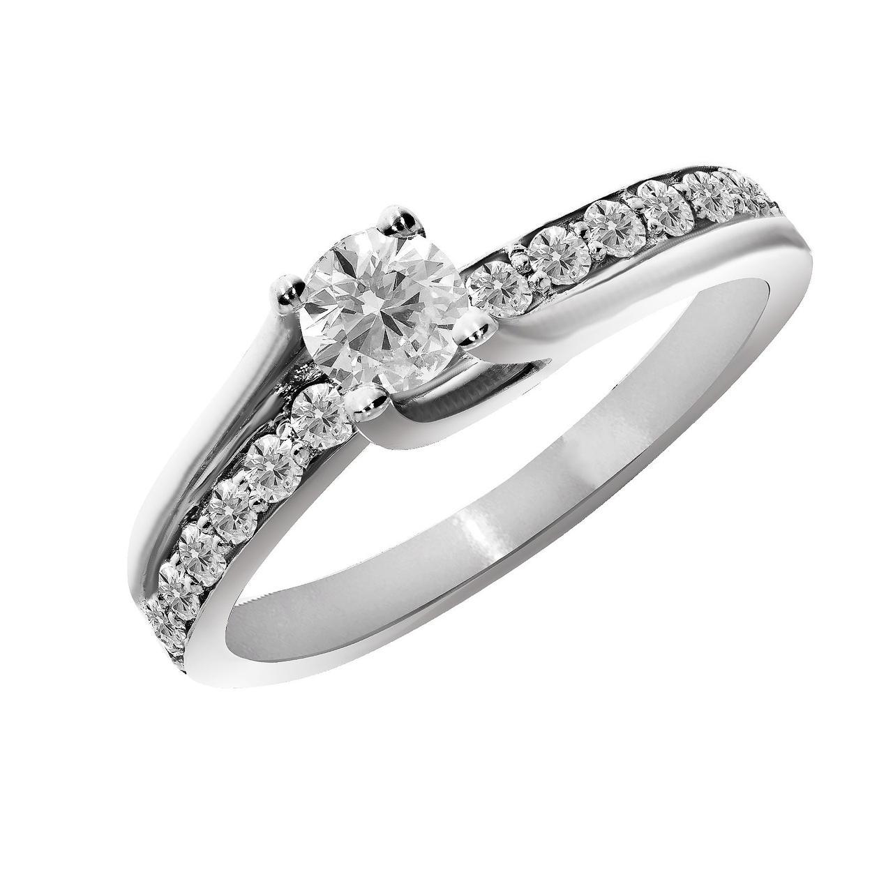 Золотое кольцо с бриллиантами, размер 17 (1313367)