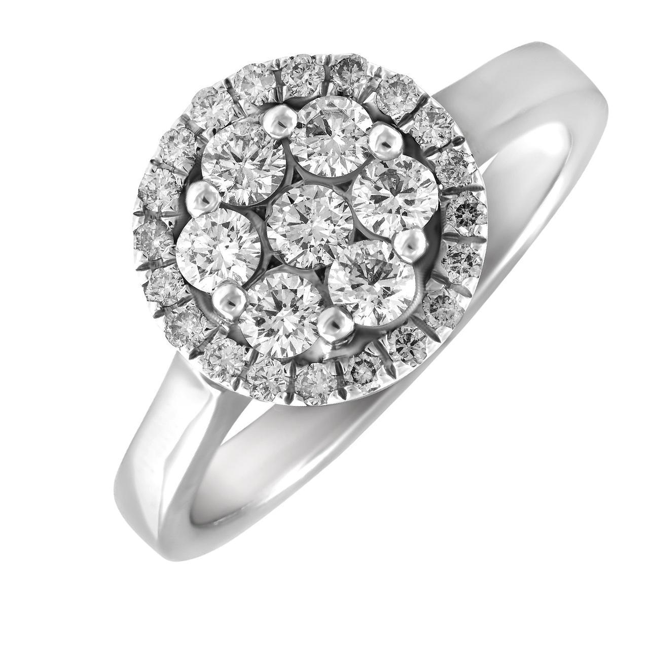 Золотое кольцо с бриллиантами, размер 16 (240830)