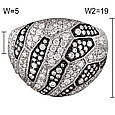 Золотое кольцо с бриллиантами, размер 17 (048335), фото 2