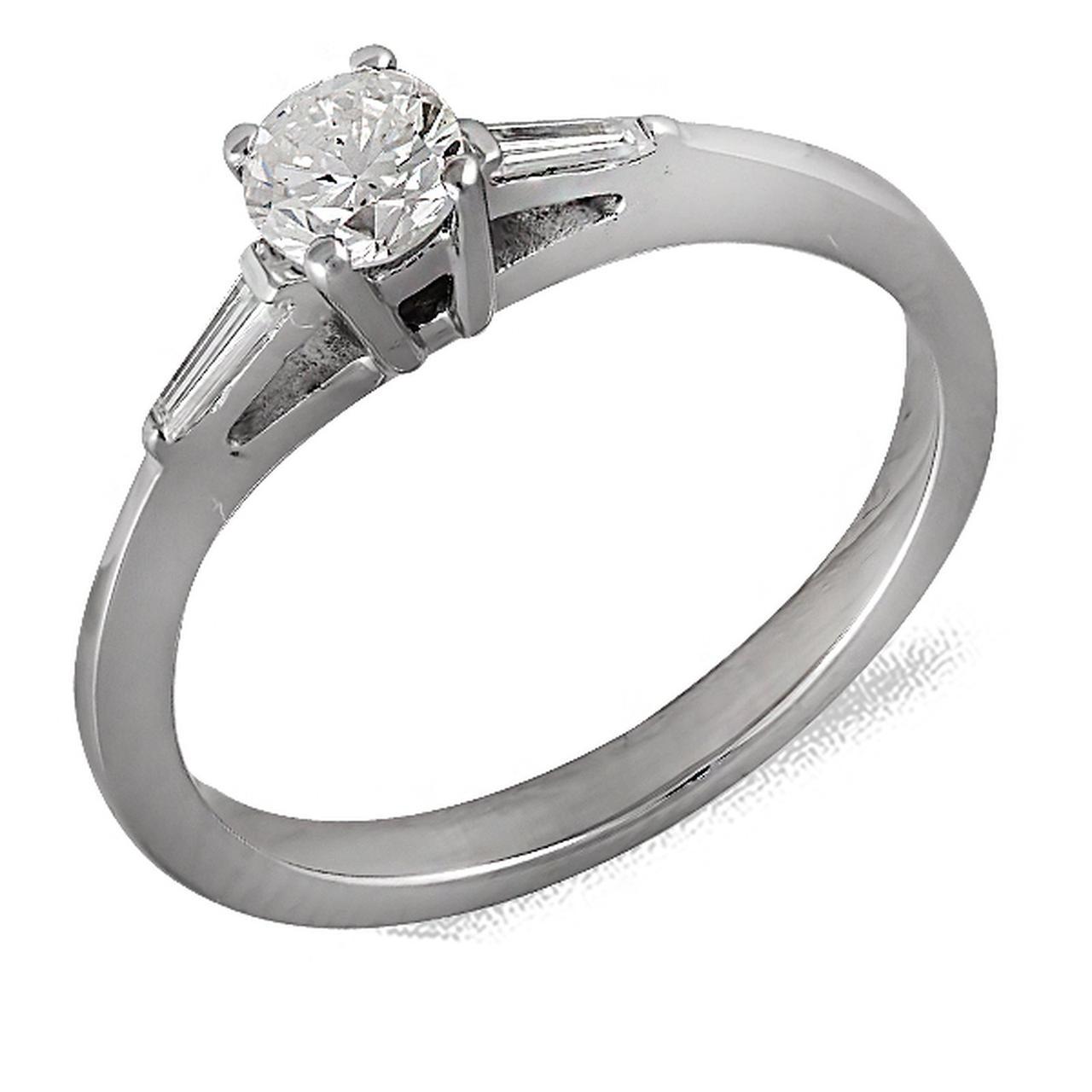 Золотое кольцо с бриллиантами, размер 16.5 (064698)