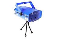 Лазерный проектор мини стробоскоп 4 в 1 MHZ 4053 Синий  КОД: 008682