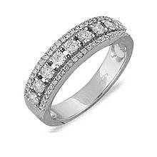 Золотое кольцо с бриллиантами, размер 16 (041086)