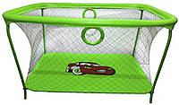 Манеж игровой KinderBox с крупной сеткой Салатовый  КОД: km 55